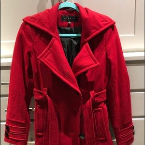 Giacca wool red peacoat
